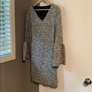 Work dress with bell sleeves